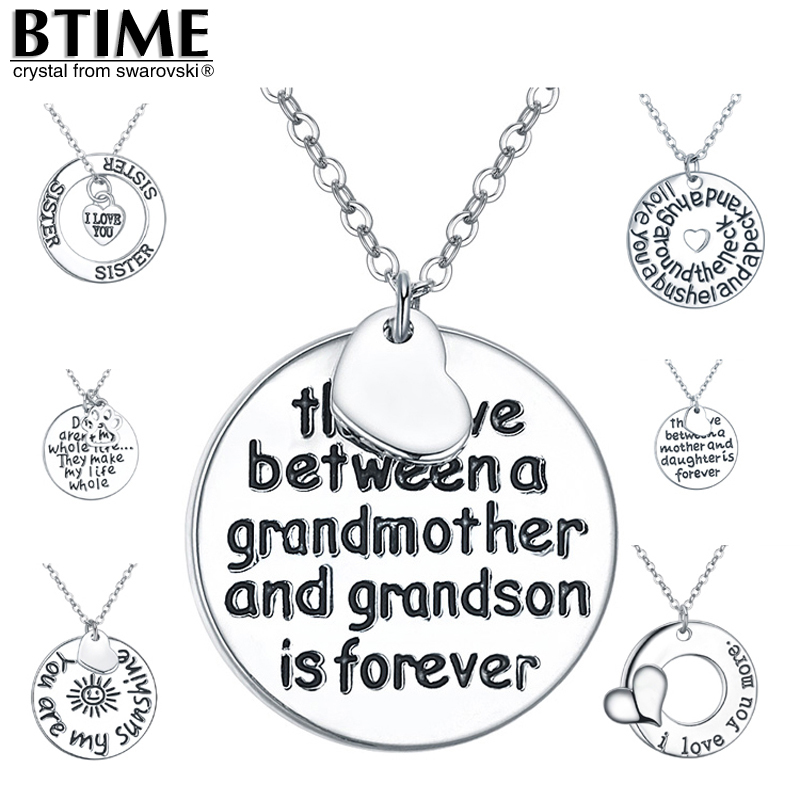 Necklace Pendant women valentine's Day gift moon lovers romantic long I love you coins Fashion Jewelry English text Mother X3001(China (Mainland))