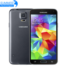 Original Unlocked NEW Samsung Galaxy S5 i9600 Cell Phones 5.1″SuperAMOLED Quad Core RAM 2GB ROM 16GB 16.0MP Android Mobile Phone