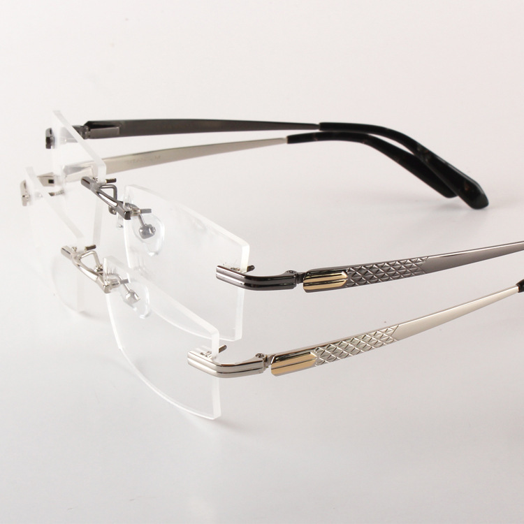 Pure Titanium Rimless Eye Glasses Frame Quality Men 2015 ...