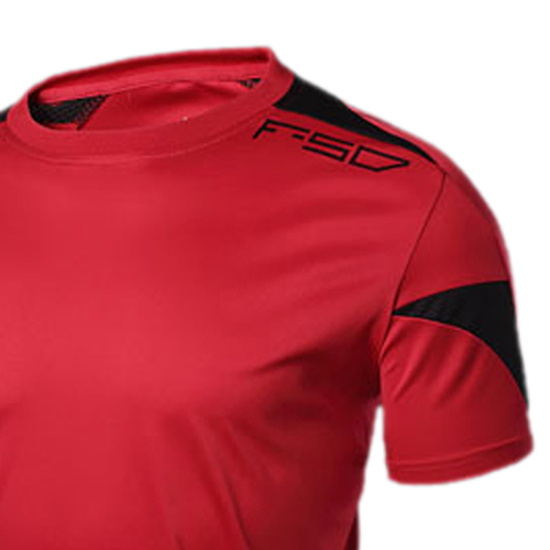 FAAJ 5 x (LUCKY SAILING LS06 Summer Outdoors T-Shirts Tops Slim Fit Sport Shirt O-neck Quick Dry men shirt Red XL(China (Mainland))