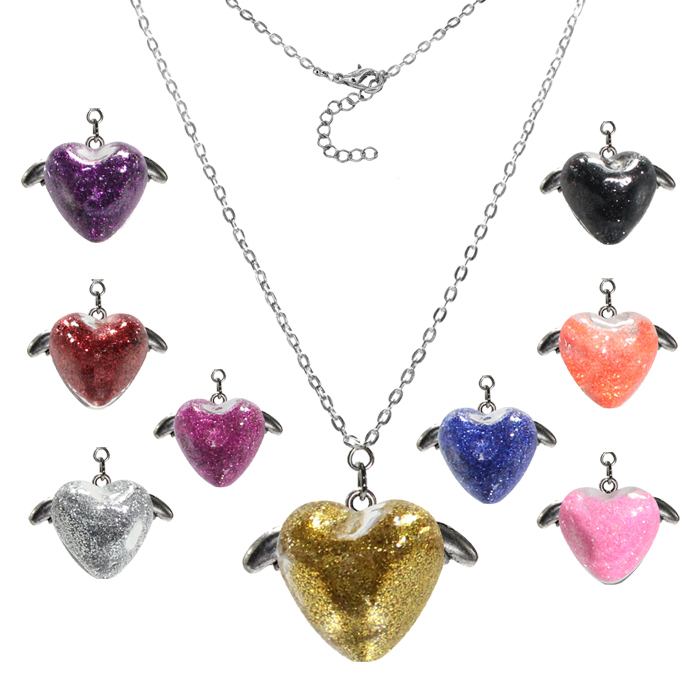 Fashion Sequins Necklace, Grass Heart Necklace, 12pcs One Lot, Free Shipping(China (Mainland))