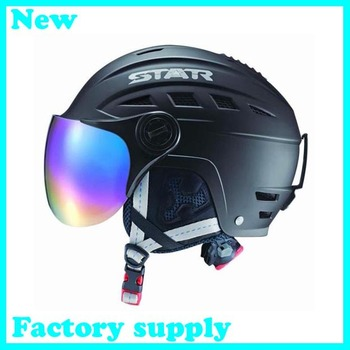 Free shipping 2015 hot sale ABS five color factory supply adult ski helmets skateboarding skiing helmets