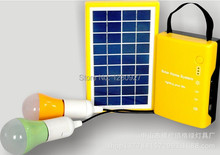 outdoor small portable 3W small solar generator system, solar power systems 3W two light system(China (Mainland))