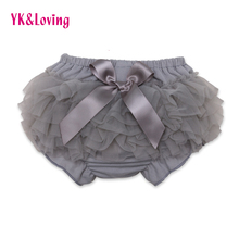 Buy Girls Short Pants Cotton Layers Chiffon Ruffled Newborn Bloomer PP Shorts Cute Baby Solid Color Shorts Kids Diaper Covers for $5.58 in AliExpress store
