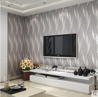 Papel de parede silver grey 3d modern entertainment for Grey silver wallpaper living room
