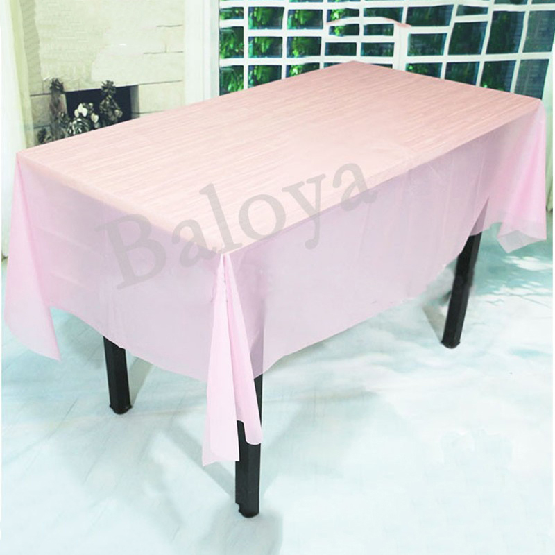 Solid Color Table Cover PVC Tablecloth Birthday Wedding Decoration Tablecover Party Supplies(China (Mainland))