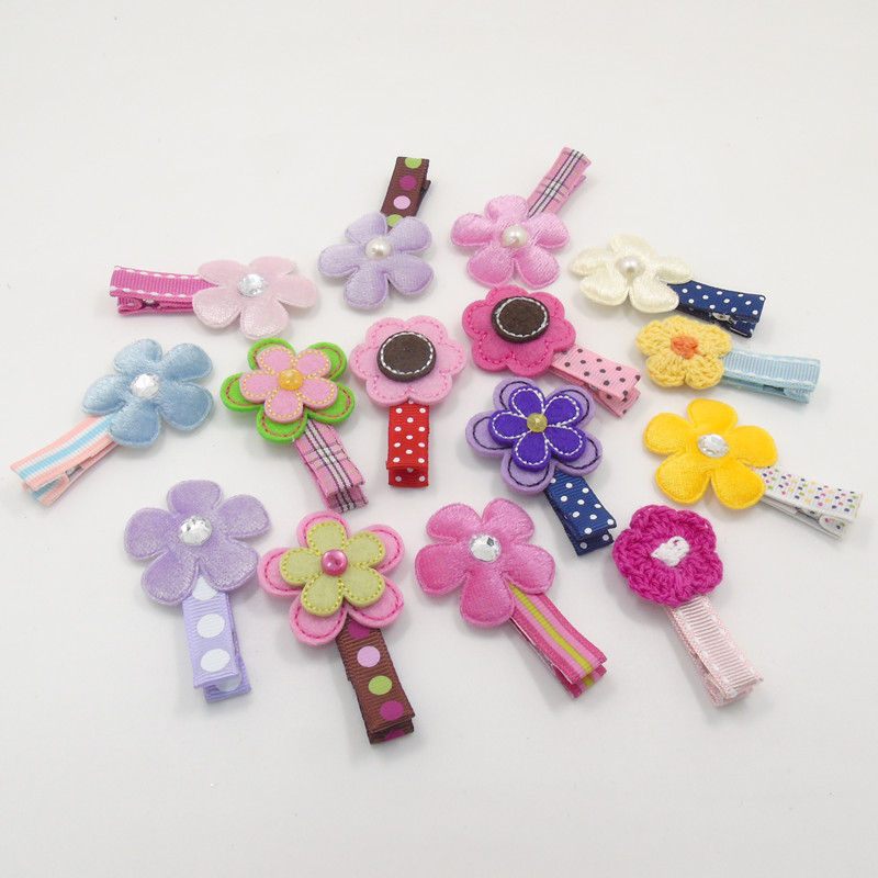 Crochet Hair Barrettes : ... Barrettes-in Hair Accessories from Mother & Kids on Aliexpress.com