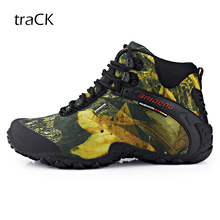2016 New Fashion Men Outdoor Anti-skid Hiking Shoes Breathable Waterproof Camouflage Men Fishing Climbing High Shoes bd8069
