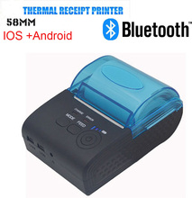 Fast shipping Wireless Bluetooth Thermal Printer 58mm Mini Bluetooth Thermal Receipt Printer IOS/Android Mobile Printer(China (Mainland))