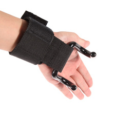 FW1S Pro Weight Lifting Training Gym Hook Grips Straps Gloves Wrist Support Lift
