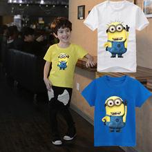 New 2015 boys Girls T Shirt Despicable Me 2 Minions Short Sleeve Baby Children T-shirts Tee Child Clothing(China (Mainland))