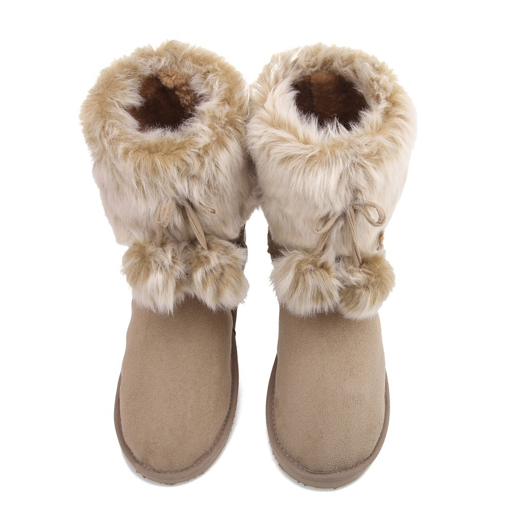 new 2013 warm women snow boots fur flat boots snow woman. Black Bedroom Furniture Sets. Home Design Ideas