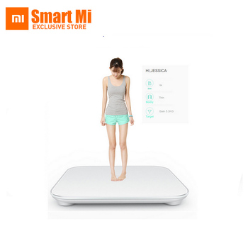 DHL SPRS free shipping Xiaomi smart household scales Original mi weight Digital scale For Android 4.4 iOS7.0 Above White