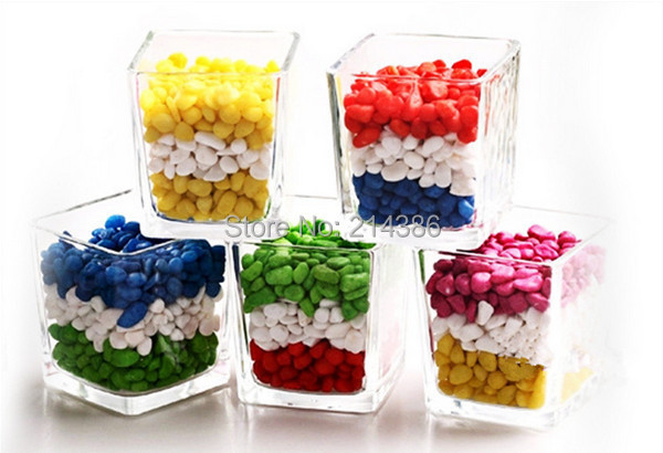 Gardening supplies Decorative potted Bonsai gardening decoration multicolour small stone colored stones flower - jackie store
