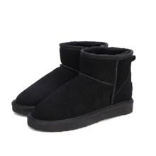 MBR kuvvet avustralya kadın kar botları 100% hakiki inek derisi deri yarım çizmeler sıcak kış çizmeler kadın ayakkabı büyük boy 34- 44(China)