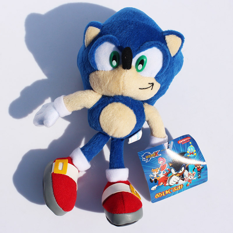 "Free Shipping 9""23cm Blue Sonic the Hedgehog Stuffed Animals Plush Toys Soft Doll For Children Retail 1pcs(China (Mainland))"