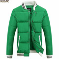 New 2016 Autumn Winter Baseball Stand Collar Puffer Jackets for Men Warm Male s Windcheater Quilted