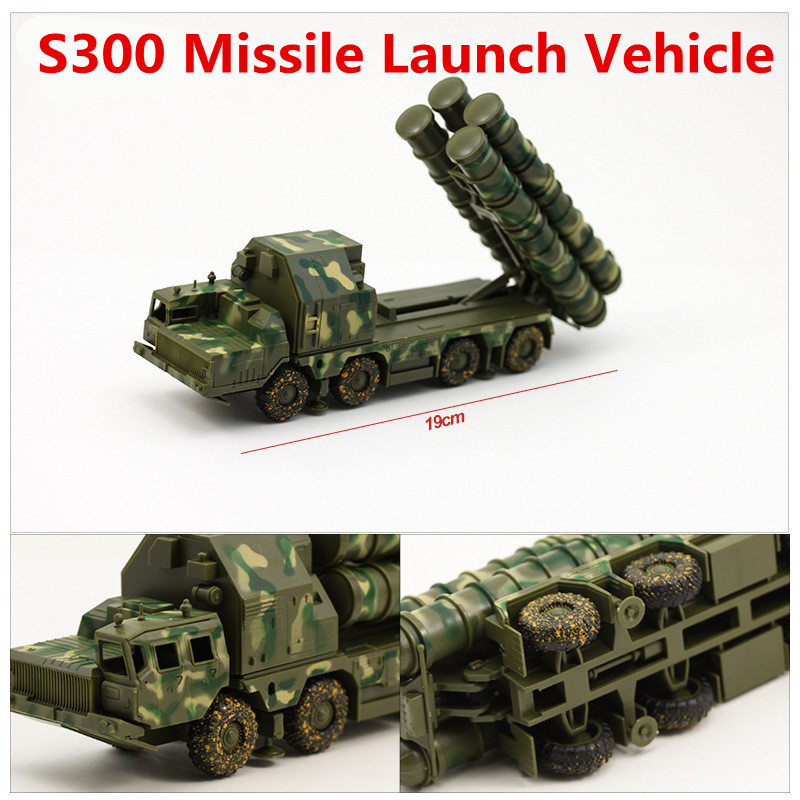 1:72 alloy car models, high simulation S300 missile launch vehicle model, plastic diecasts, toy vehicles, free shipping(China (Mainland))