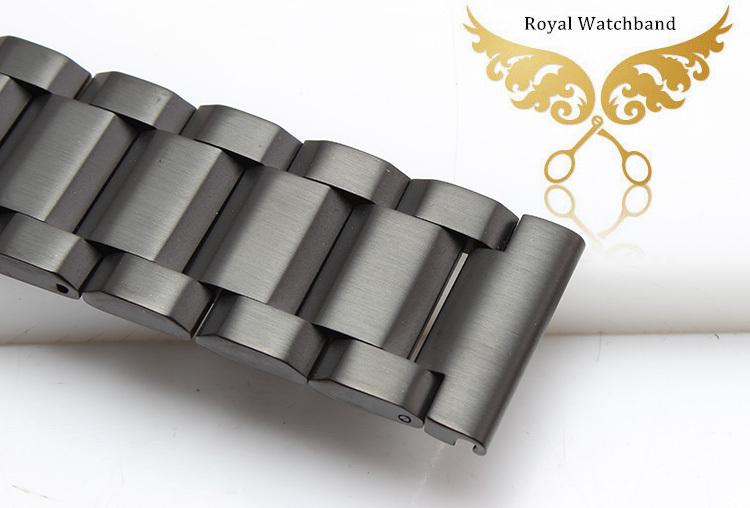Продвижение! 18 мм 20 мм 22 мм 24 мм из нержавеющей стали Watchband двойной флип замком-вертушкой бесплатная доставка