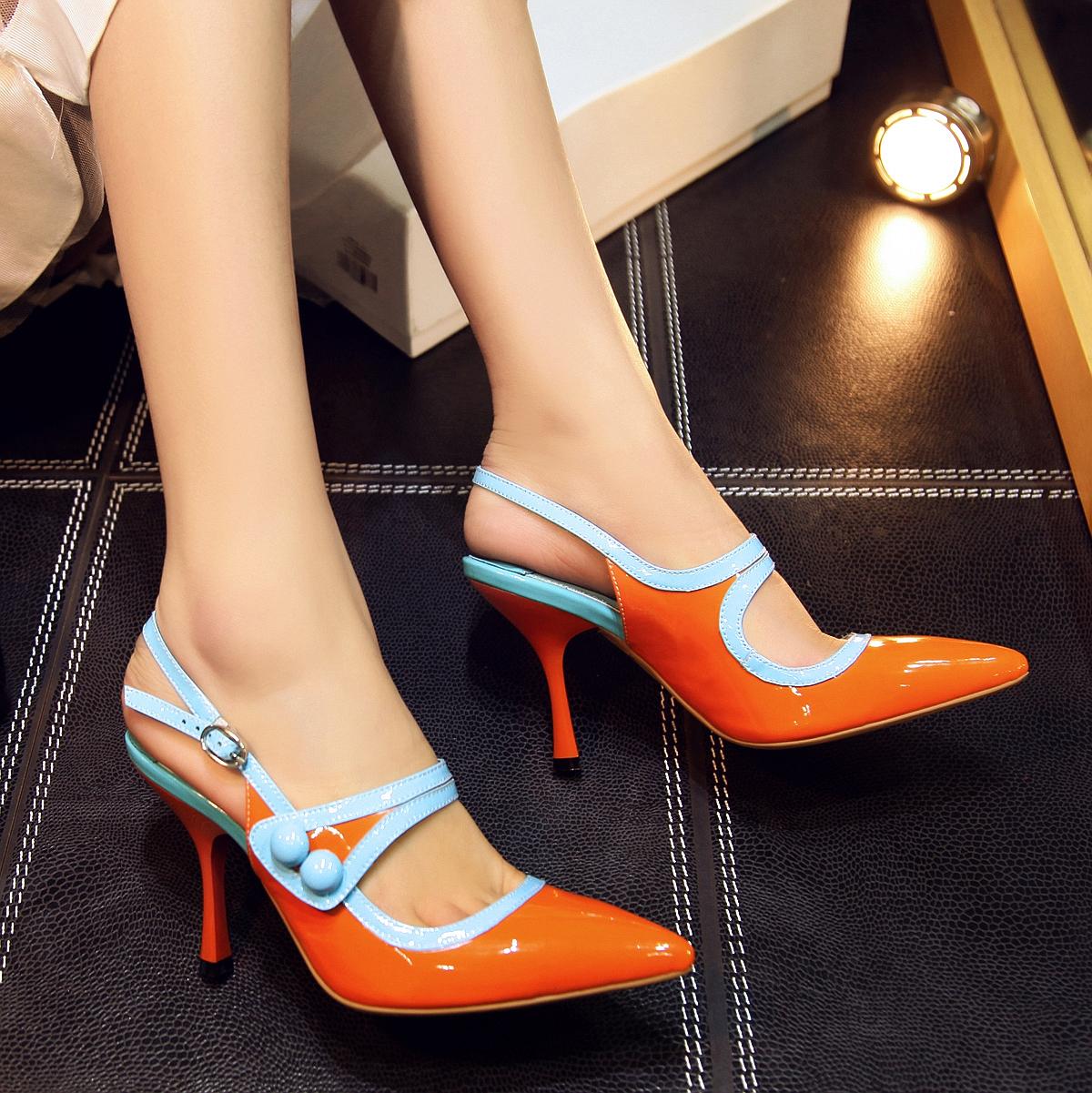 Orange Heels For Women