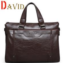 Мужчины 2016 поло известные бренды из натуральной кожи сумка высокое качество люди вестник мешки старинные ноутбук сумка портфель A3G60