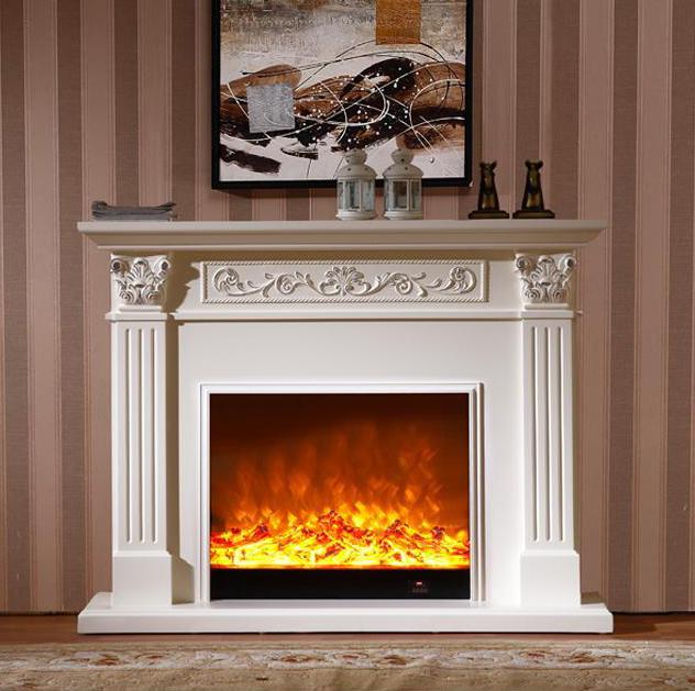 estilo europeo conjunto chimenea repisa de la chimenea de madera wcm con relleno de la chimenea