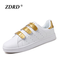 Super Light Breathable Women All White Shoes Hook Loop Fashion Unisex Student Walking Shoes Lovers Casual