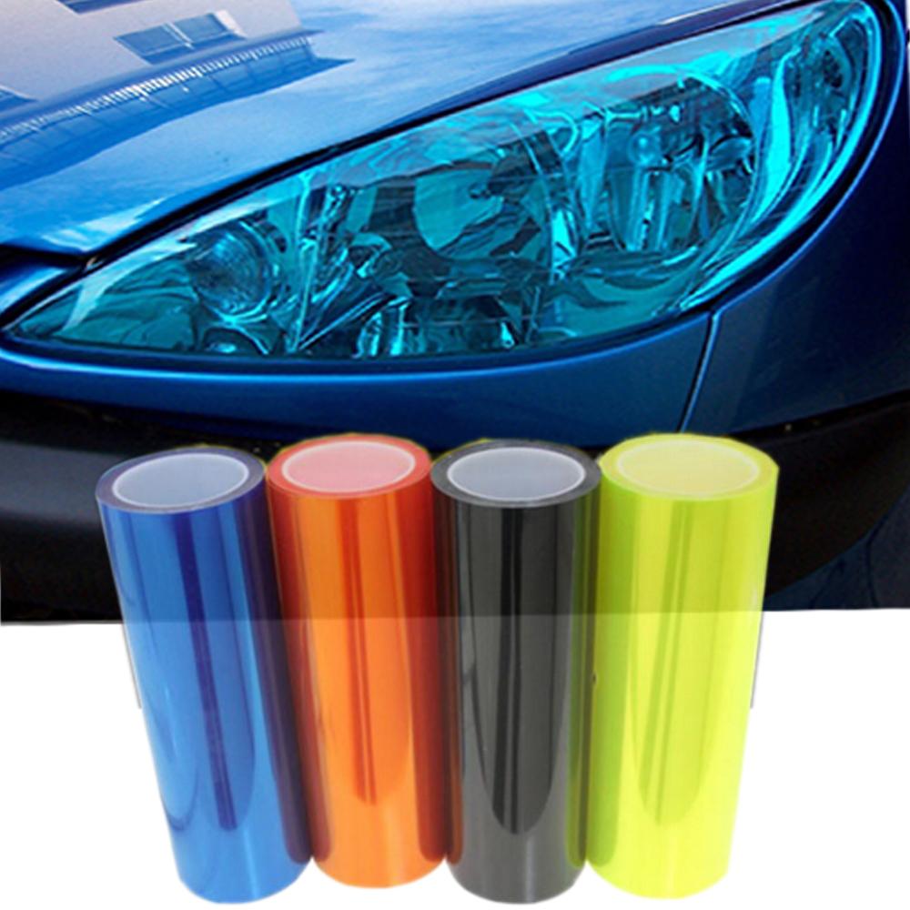 car styling 12 Colors 30x100cm Auto Car Light Headlight Taillight Tint Vinyl Film Sticker Lamp Stickers Brake Light Accessories(China (Mainland))