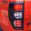 for ford ranger t6 accessories ABS matte black tail light covers trim for FORD RANGER 2012