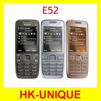 Original Unlocked Nokia E52 WIFI GPS 3G Network Russian Keyboard Russian Language Mobile Phone Free Shipping