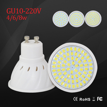 New led Light lamps SMD 2835 GU10 Spotlight 220v 230v led bulbs 4w 6w 8w lighting chandelier bright lampara indoor lights(China (Mainland))