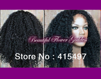 Kinky Curly Lace Wigs For Fashion Afro Black Woman Made Of 100% Indian Remy Human Hair Very Kinky hot  Front Lace Wigs