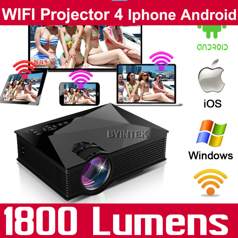 Home Theater Smart Miracast Airplay WIFI HDMI USB LCD Video Portable Mini 1080p HD 3D LED Projector Proyector For Iphone Android(China (Mainland))