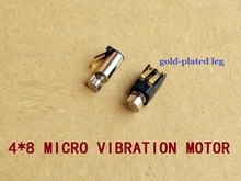 100pcs/lot 4*8mm Super Miniature Hollow Cup Motor / Vibrator 1.5-3 V 0.03-0.06 A with Gold-Plated Legs Very Strong Vibrating!(China (Mainland))