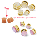 Hot Ear Pierces Expansions 1pair Free 2pair Ear Tunnels Stretcher Plugs Ear Piercing Earring Expanders Jewelry