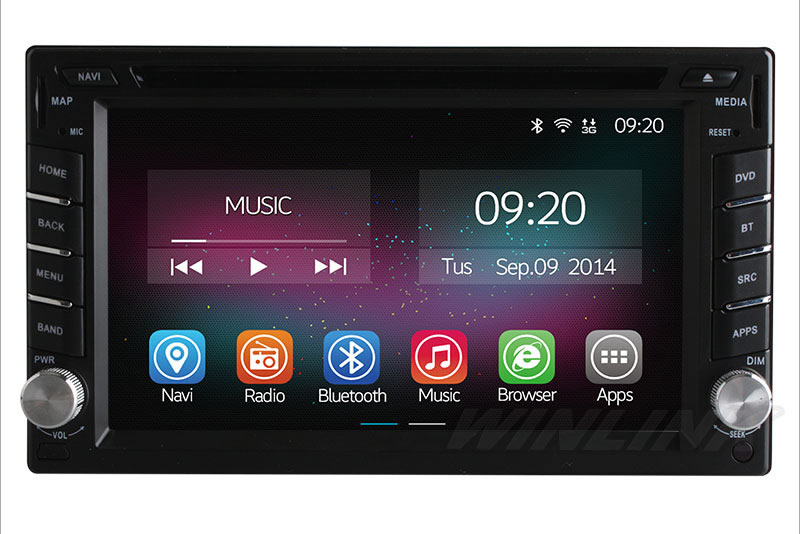 2015 Quad Core 2 Din 100 Pure Android 4 4 2 Universal Car Dvd Player Gps