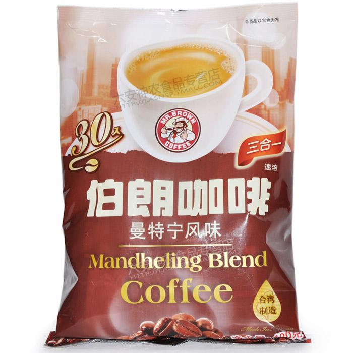 Mr Brown Mandheling blend coffee 3 in 1 instant 480g bag