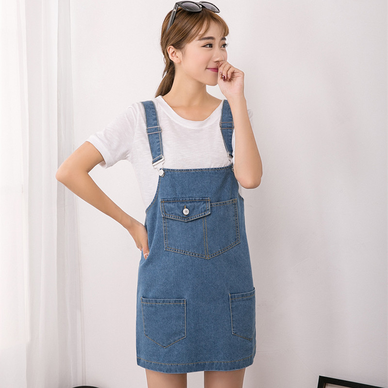 Women Jeans Dresses Denim Sundresses 2016 Korean New Simple Strap Dress Brand Designer Woman ...