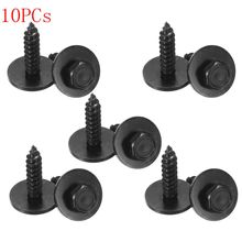 Buy 10PCs Universal Self Tapping Screw & Washers 4.8x19 mm Black 8mm Hex Head BMW for $1.43 in AliExpress store