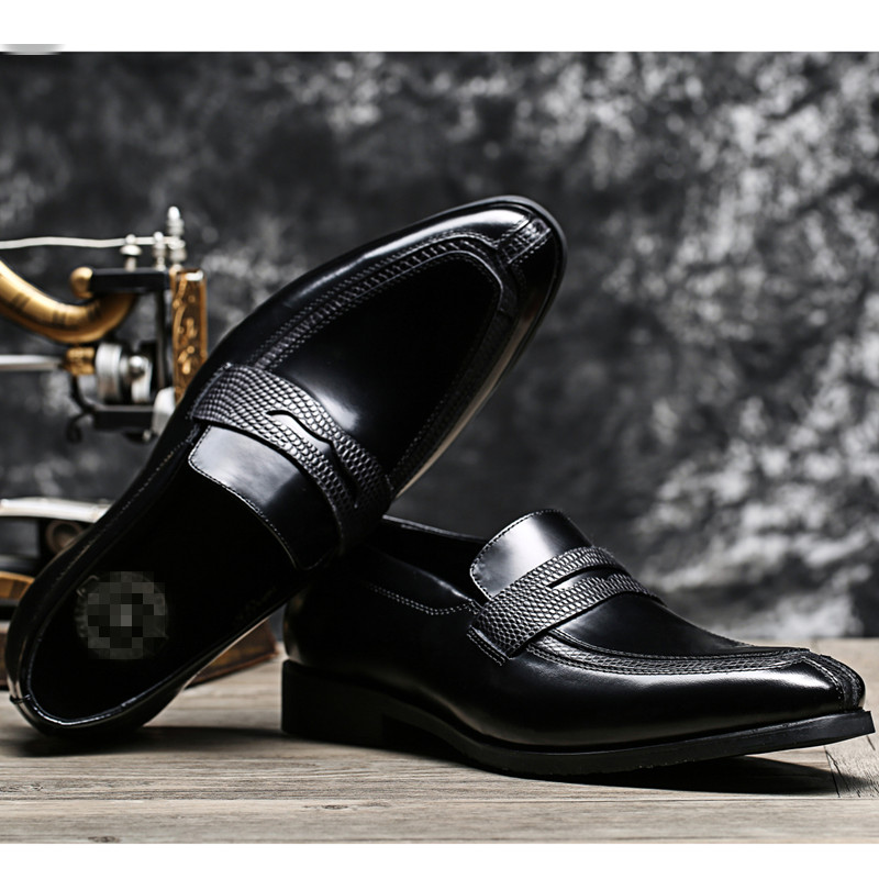 2016 brand flats fashion  mens dress shoes genuine leather wedding shoes men square toe office business dress shoes<br><br>Aliexpress