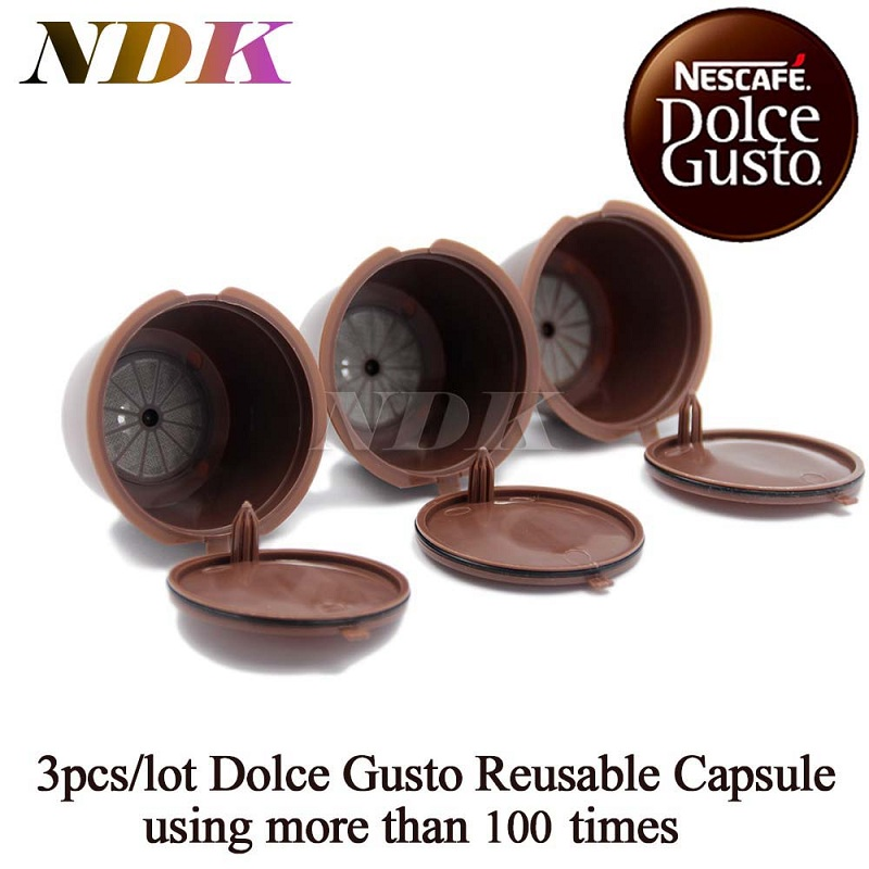 3pcs pack refillable dolce gusto coffee capsule nescafe dolce gusto reusable capsule dolce gusto. Black Bedroom Furniture Sets. Home Design Ideas