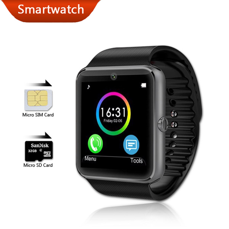 Smartwatch GT08 Bluetooth Android Wear Smart Watch Waterproof Mobile Phone Wrist Watches Camera Clock with Fitness