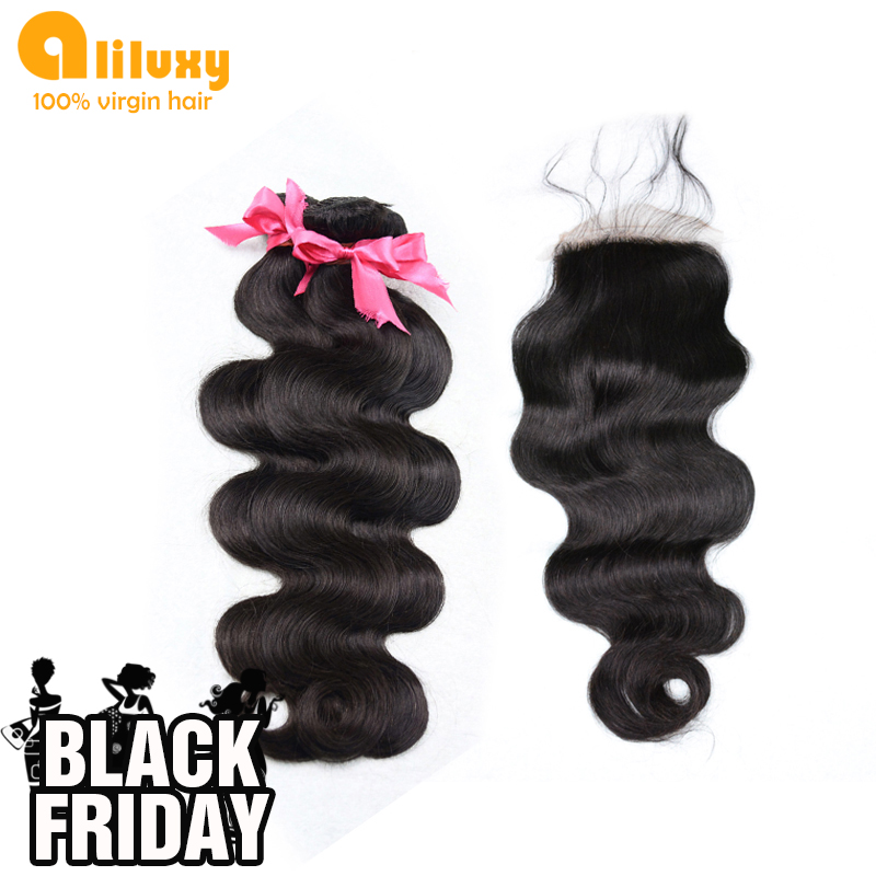 Гаджет  Free shipping malaysian body wave,1 pcs Lace Top Closure with 3pcs Hair Bundle,4pcs/lot, 5A top quality,12-30inches None Волосы и аксессуары