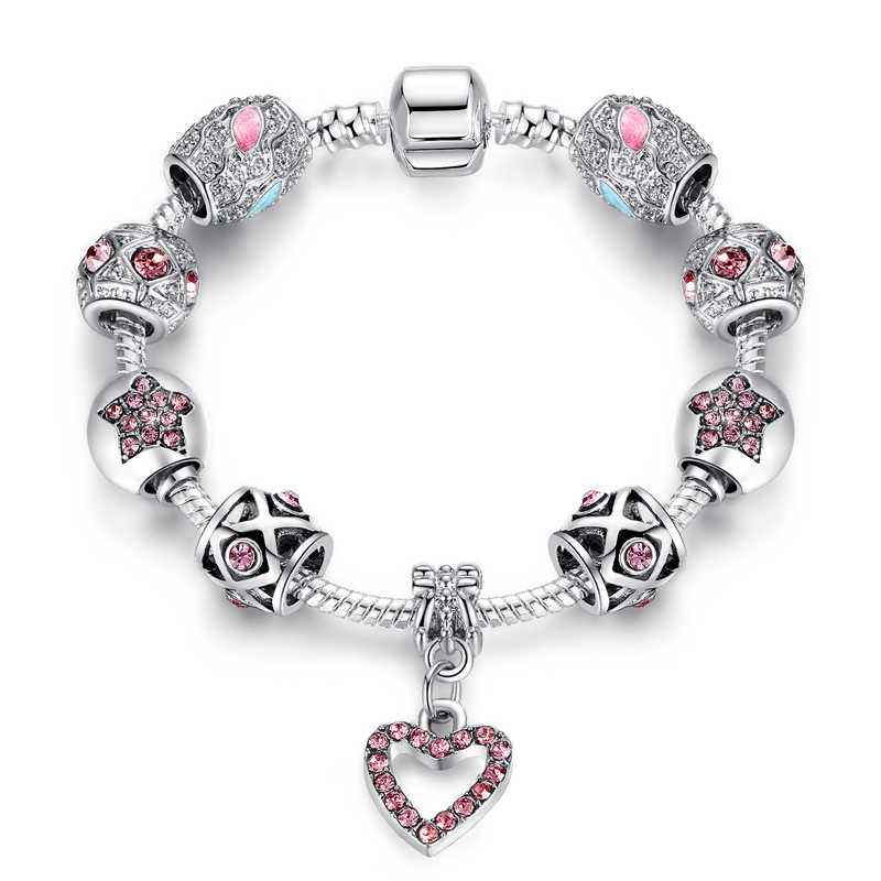 Pandora bracelets for women 925 silver chain bracelet beads jewelry
