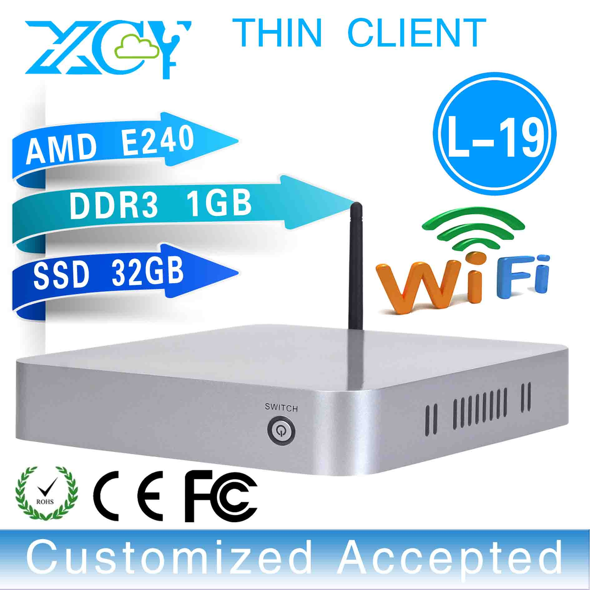 facrory competitive price! L-19,OEM thin client Multi computing Thin clients small size but durable and efficient computers(China (Mainland))