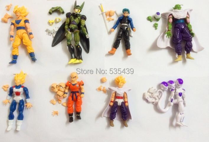 NEW Hot 8pcs/set 12-14cm Dragon Ball Z Super Saiyan Trunks vegeta Son Goku uub Kakarotto PVC Action Figure toys Christmas toy<br><br>Aliexpress