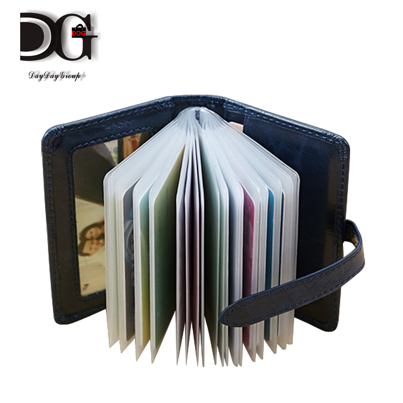 New Fashion 100% genuine cow leather Expandable credit bank card wallet id holder organizer bag pack<br><br>Aliexpress