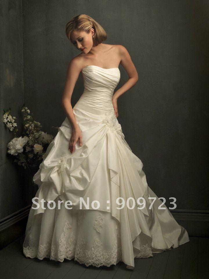 Royal train custom made nice bridal dress wedding dresses for Nice dresses to wear to weddings