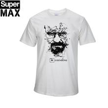 De calidad superior de ALGODÓN de impresión de manga corta casual hombres heisenberg breaking bad print camiseta T01(China (Mainland))