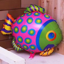 Бесплатная доставка в новые алюминиевые воздушные шары ну вечеринку украшения милый мультфильм детские игрушки, Шары оптовая продажа рыбы пятна
